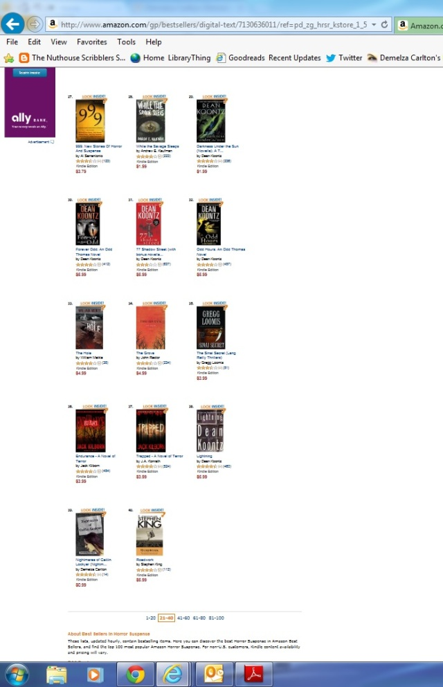 Nightmares No 39 ranking Top 100 with other books