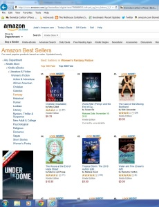 Water and Fire Top 100 Bestseller in Women's Fantasy Fiction No 46