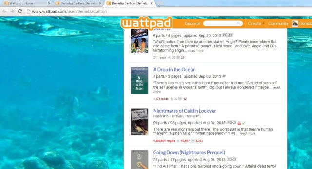 Nightmares 1 point 3 million reads on Wattpad