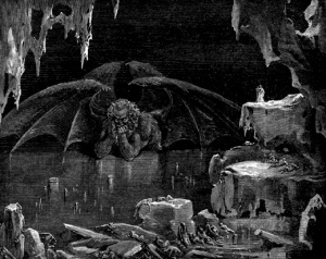 Luce in his lake by Dore - Lucifer, King of Hell