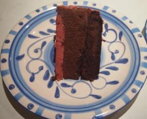 Slice of layer cake