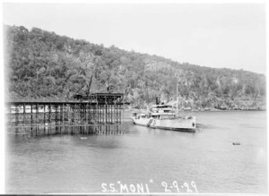 SS Moni (Formerly SS Islander II) in Flying Fish Cove, 1929