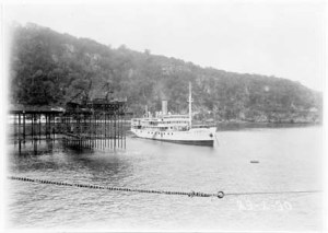 TSS Islander in Flying Fish Cove, 1930