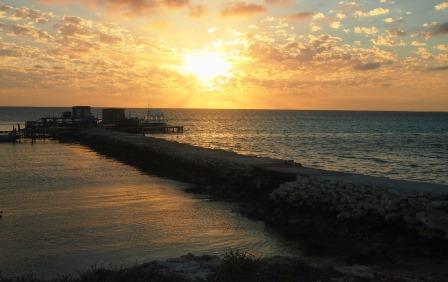 Rat Island dawn over the stone jetty