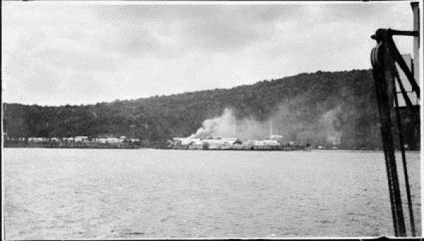 View of Settlement across Flying Fish Cove, 1909