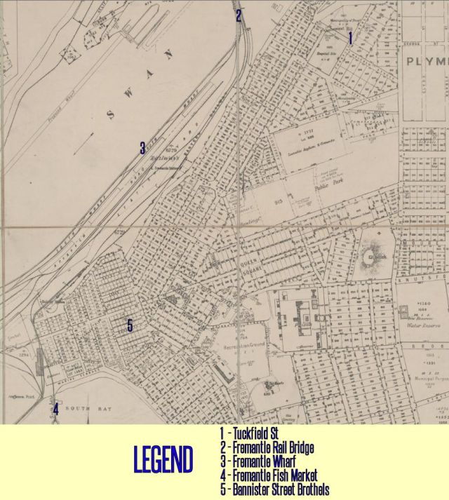 1919 Fremantle Map with Legend