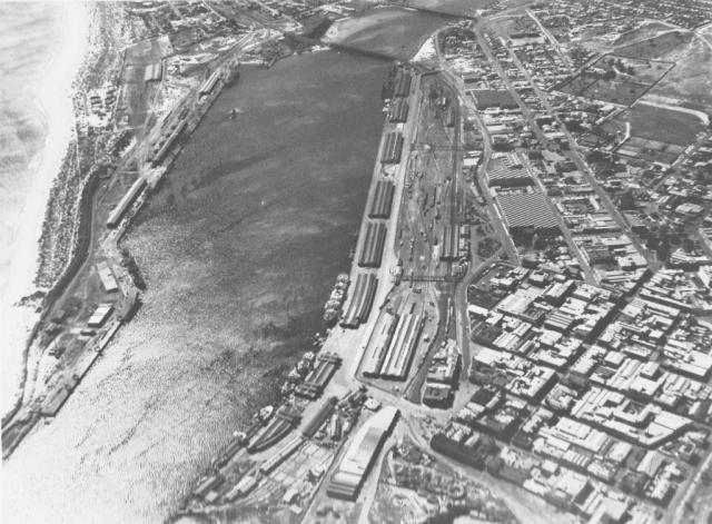 Aerial Photograph of Fremantle Port 1930s low res