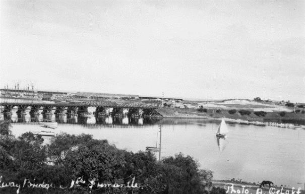 View to Fremantle Rail Bridge from Tuckfield Street, Fremantle