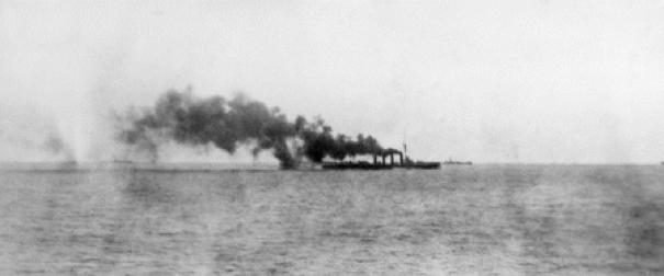 HMAS Sydney leaving ANZAC convoy to pursue SS Emden, 1914