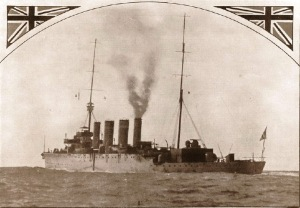 HMAS Sydney leaving Albany, November 1914