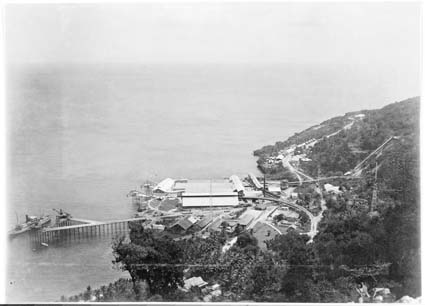 Flying Fish Cove in 1929 on a calm day