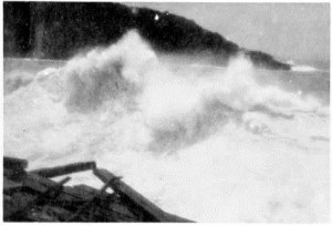 Waves lapping at the loading ares