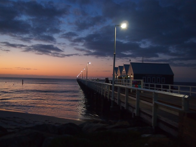 Busselton Jetty and Interpretive Centre by Night