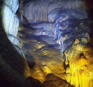 Flowstone in Mammoth Cave