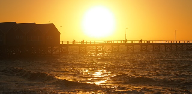 Sunset stroll on Busselton Jetty, 2014