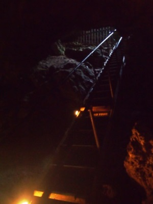 Stairs into Lake Cave