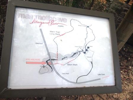 Mammoth Cave Walk trail map