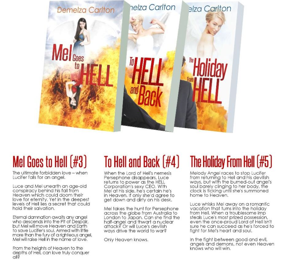Mel Goes To Hell Box Set Books with blurbs med res